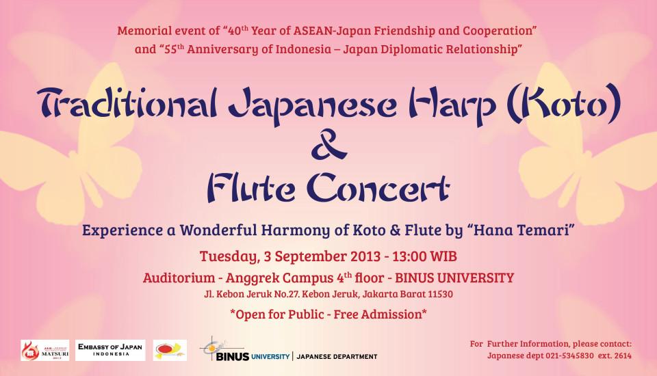 Traditional Japanese Harp (Koto) and Flute Concert by Hanatemari