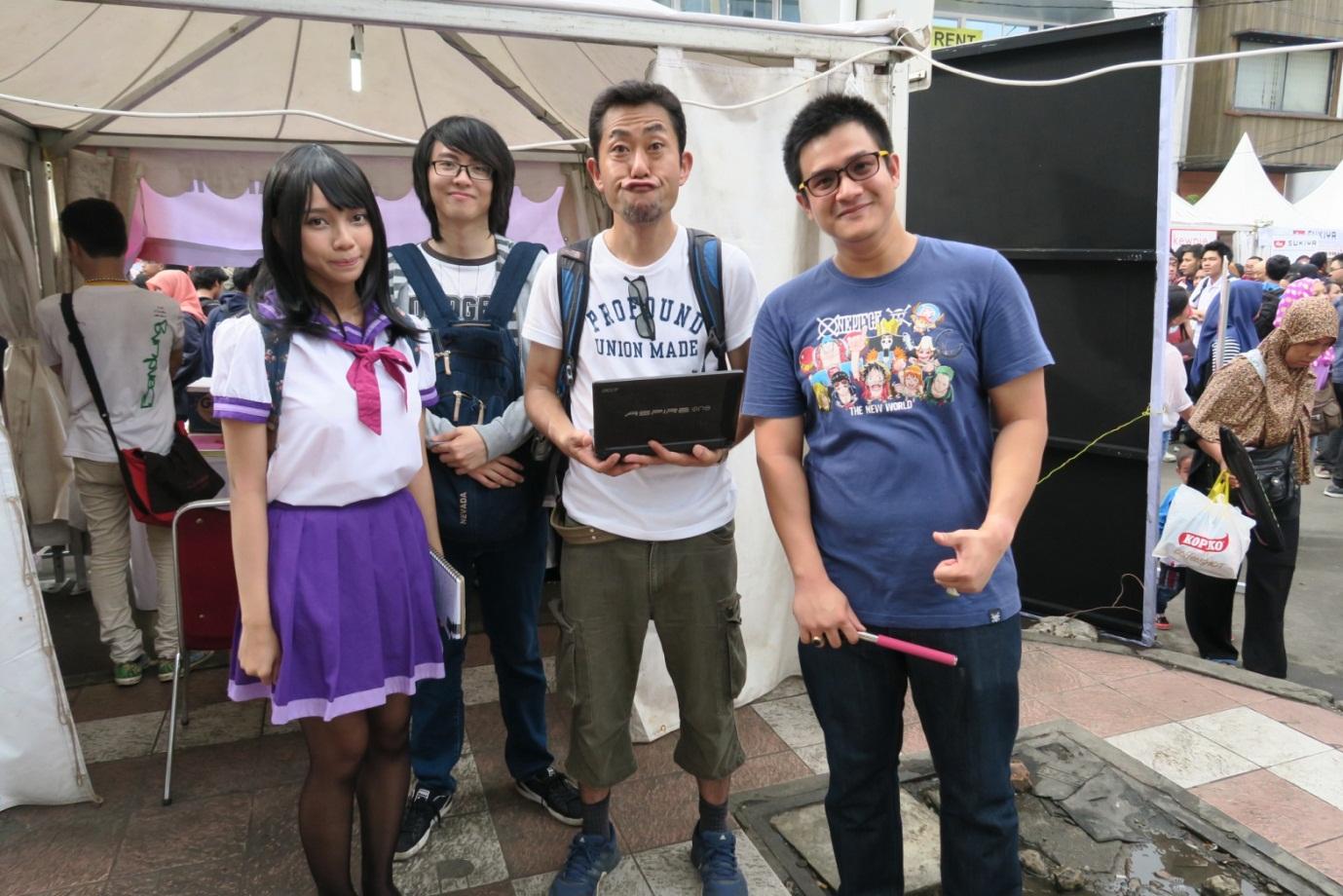 Seorang Reporter dari TV Jepang yang sengaja datang ke Indonesia untuk meliput festival Ennichisai telah selesai kami wawancara