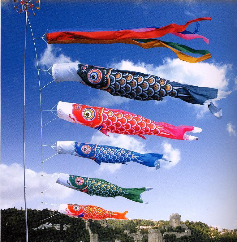 Koi Nobori Simbol Keluarga Berbentuk Bendera Ikan