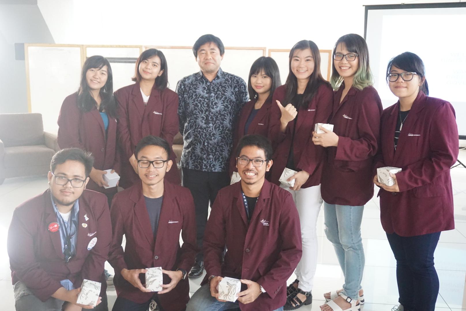Kunjungan Pengusaha Wakayama ke Bina Nusantara University