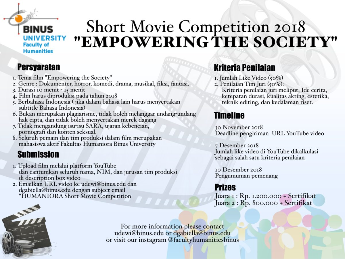 """Short Film Competition : """"Empowering the Society"""""""